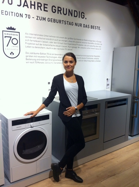 Fair hostess for Grundig